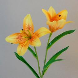 Artificial Tiger Lilies Yellow 46cm - L029 I4