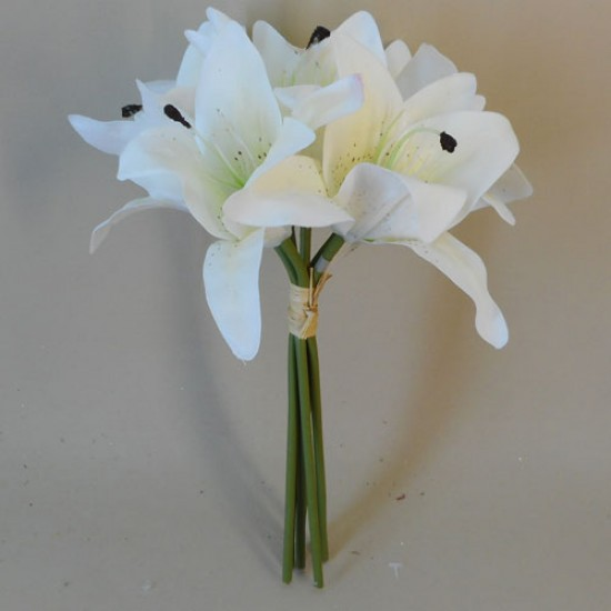 Real Touch Lilies Bouquet Cream - L033 N3