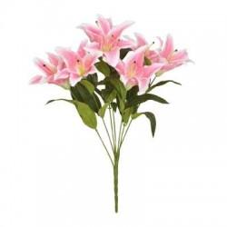 Artificial Flowers Bouquet | Pink Lilies - L003 CC3