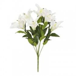 Artificial Flowers Bouquet | White Lilies - L002