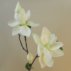 Artificial Magnolias Branch Cream - M050 J1
