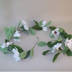 Artificial Magnolia Garland Cream - M053 BX1