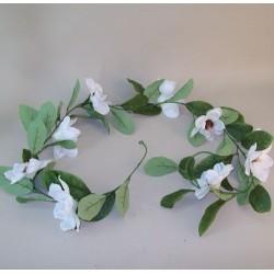 Artificial Magnolia Garland Cream - M053 BX1