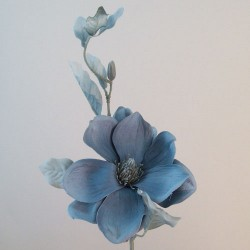 Artificial Magnolias Dusky Blue with Grey Leaves - M023 BX1