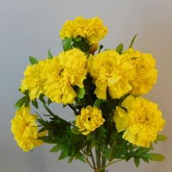 Silk Marigold Bush Yellow - M019