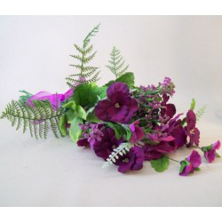 Artificial Pansies Bouquet Magenta and Purple Flowers - MF400-860BQ LL3