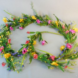 English Meadow Spring Flowers Garland 210cm - MED050 F1