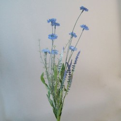English Meadow Artificial Flowers Blue Daisies - M073 FF4