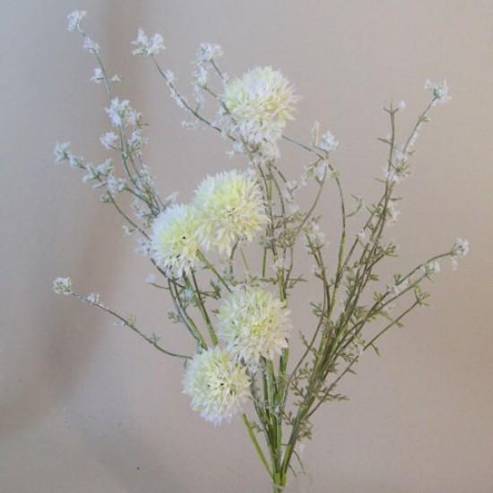 English Meadow Artificial Flowers Cream Cornflowers - M067 FF1