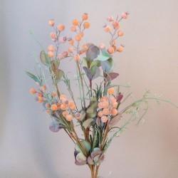 English Meadow Artificial Flowers Orange Berries - M081 FF4