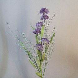 English Meadow Artificial Flowers Purple Cornflowers - M070 FF3
