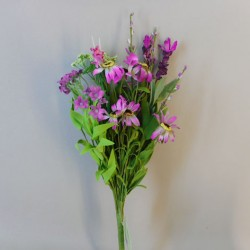 Artificial Meadow Flower Bouquet Lilac Wild Flowers Small  - MF262MB BX2