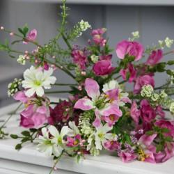 Artificial Meadow Flower Bouquet Magenta Pink  - MF808MB J3