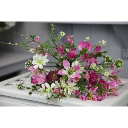 Artificial Meadow Flower Bouquet Magenta Pink  - MF808MB J3