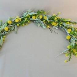 Artificial Meadow Flowers Garland Yellow Craspedia - M085 GG4