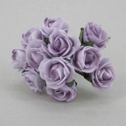 Mini Foam Roses Bunch Lilac - R054a U2