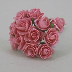 Mini Foam Roses Bunch Hot Pink - R047a U2