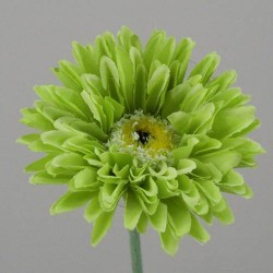 Silk Mini Gerbera Lime Green - G066 F2