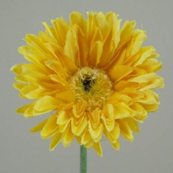 Silk Mini Gerbera Yellow - G064 F2