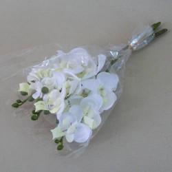 Mini Silk Phalaenopsis Orchids Ivory - O059 J2