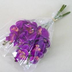 Mini Silk Phalaenopsis Orchids Purple - O062 J3
