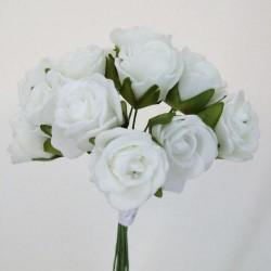 Mini Foam Roses Bunch White - R046 U2