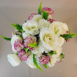 Artificial Roses and Carnations Bouquet Cream Pink - R093 U4