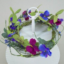 Mixed Artificial Pansies Wreath or Centerpiece Small - MF001-166 BX4
