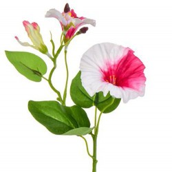 Artificial Morning Glory Bindweed Vines Pink and White 25cm - M014