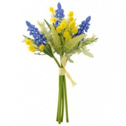 Artificial Muscari and Mimosa Spring Posy - S004