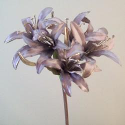 Satin Nerine Lily Mauve Mink - N014 LL2
