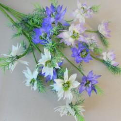 Artificial Nigella Love in the Mist Blue Purple - N018