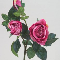 Artificial Old Roses Spray Pink (Short) - R157 O4