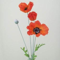Orange Silk Poppies - P063 K3