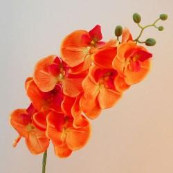 Artificial Phalaenopsis Orchid Orange 105cm  - O025 CC