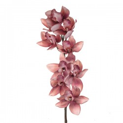 Real Touch Artificial Cymbidium Orchid Dusky Pink - O136