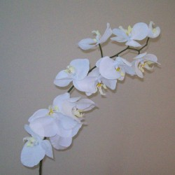 Real Touch Artificial Phalaenopsis Orchids White and Yellow - O096 K2