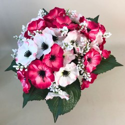Artificial Pansies Bouquet Pink and White - P077 Q1