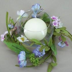 Meadow Flowers Wreath or Centerpiece Blue Pink - MF412-173 BX1