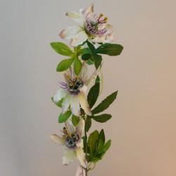 Passion Flowers Spray Green Purple  - P059 P2