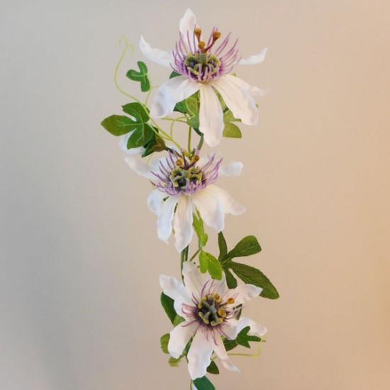 Passion Flowers Spray White Purple  - P071 LL2