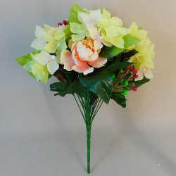 Artificial Flowers Posy | Peonies Hydrangeas and Berries - P023 BX 20