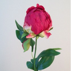 Artificial Peony Buds Large Magenta Pink - P151 L2