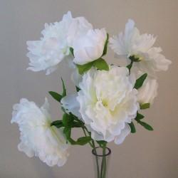 Fleur Artificial Peony Bouquet Ivory - P209