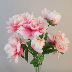 Fleur Artificial Peony Bouquet Pink - P208 L3