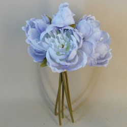 Artificial Peony Posy Hyacinth Blue - P101 J4