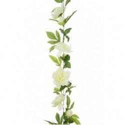 Artificial Peony Flowers Garland Cream 180cm - P195 EE2