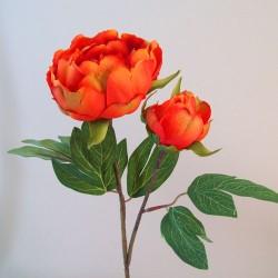 Artificial Peony Flowers Orange - P218 N3