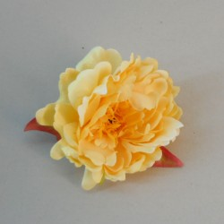 Artificial Peony Yellow Heads Only 9cm - P113