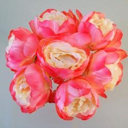 Artificial Peony Posy Pink Peach - P160 J2